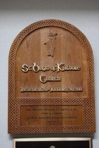 St. Brigid of Kildare Church sign