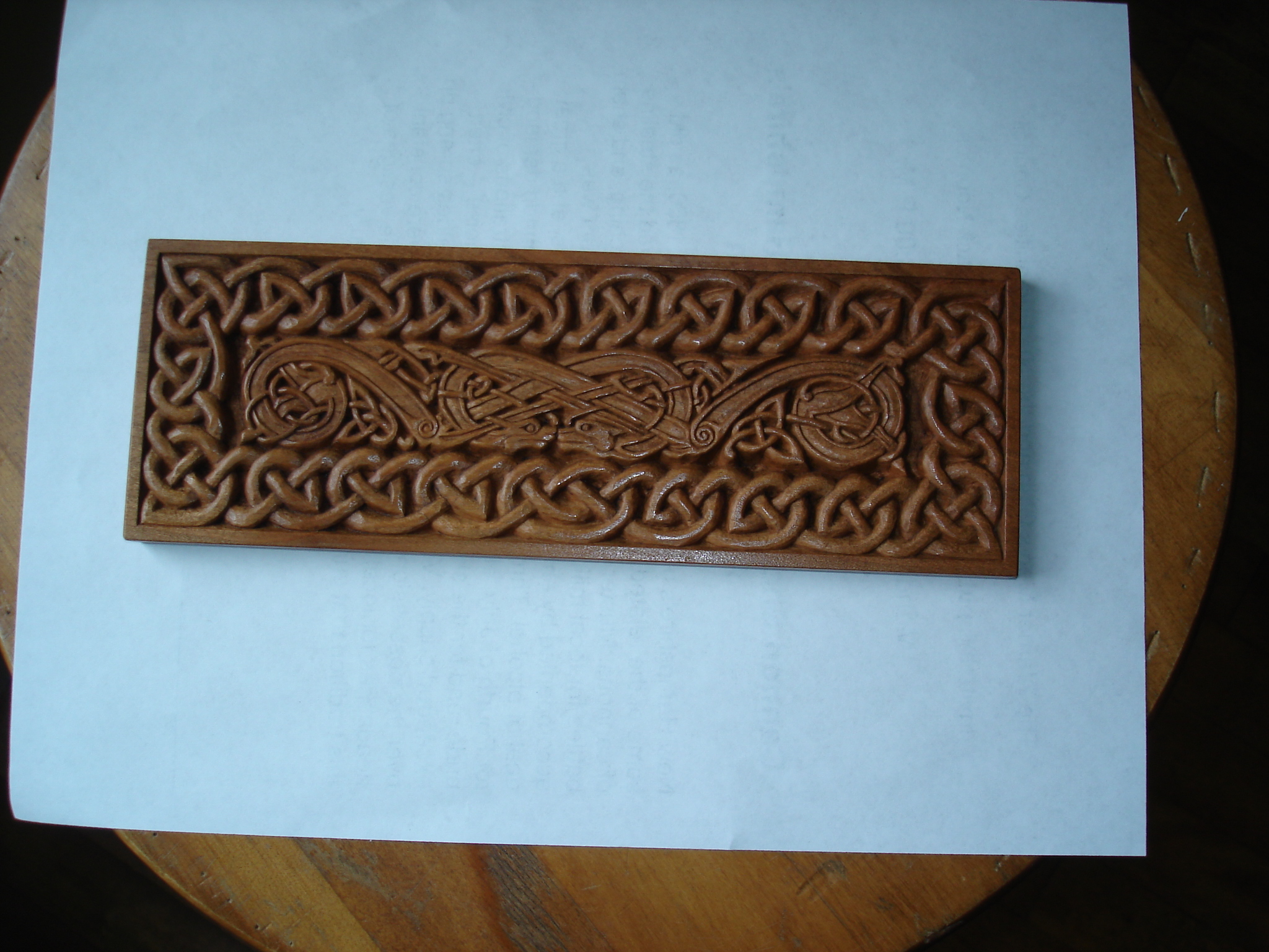 This is a second plaque carved for the League of NH Craftsmen's Craft Center