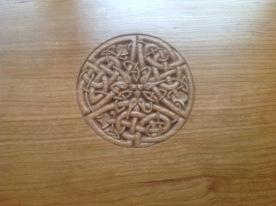 Kate's bench Celtic design