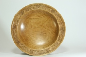 Collaborative bowl, Celtic bird design.